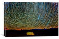 Star Trails, Canvas Print
