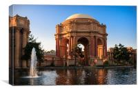 Palace of Fine Arts, Canvas Print