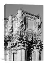 Roman Greco Pillar, Canvas Print