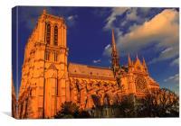 Golden Notre Dame, Canvas Print