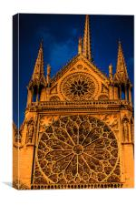 Notre Dame Motif, Canvas Print