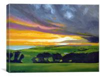 Beachy Head Sunset, Canvas Print