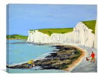 Birling Gap, Canvas Print