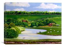 River Cuckmere, Canvas Print