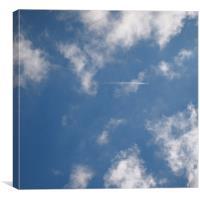 Blue Sky And Aeroplane, Canvas Print