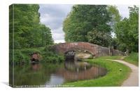 Canal Bridge, Canvas Print