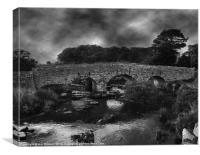 bridge over a dartmoor river, Canvas Print
