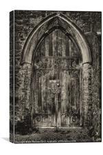 mediëval church door, Canvas Print