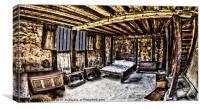 bay farm bedroom, Canvas Print