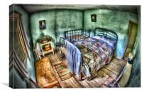 whitakers bedroom, Canvas Print