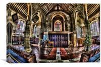 inside chiddingstone church, Canvas Print