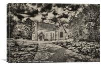 medievil church, Canvas Print
