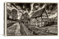 poplar cottage, Canvas Print