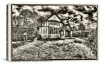 Kent Cottage, Canvas Print