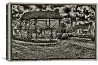 Village Street, Canvas Print