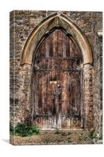 Tudor Church Door, Canvas Print