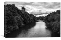 River Wear - Mono, Canvas Print