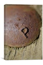 "The Letter ""P"", Canvas Print"