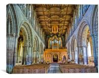 Inside St Davids Cathedral, Canvas Print