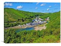 Lower Solva and Harbour, Canvas Print