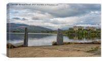 Trawsfynydd Lake & Power Station, Gwynedd , Canvas Print