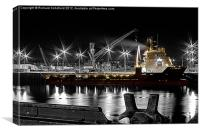 The Boat At Night, Canvas Print