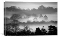 MISTY LAYERS, Canvas Print