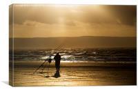 Beach Fisherman, Canvas Print