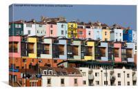 Coloured Houses, Canvas Print