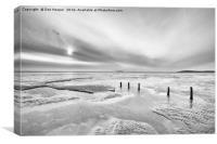 Berrow Beach, Canvas Print