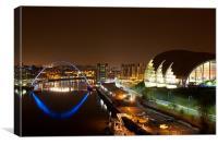 The Tyne at Night, Canvas Print