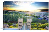 Sunset over Durham Cathedral, Canvas Print