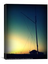 Masts at Sunset, Canvas Print