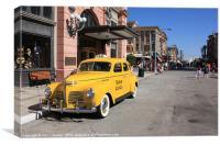 Taxi, Canvas Print