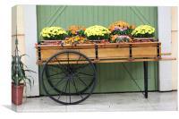 Flower cart, Canvas Print