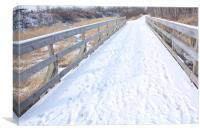 Snow covered path., Canvas Print