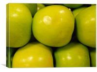 Green apples, Canvas Print