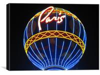 Paris Hotel Balloon, Canvas Print