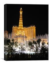 Las Vegas Fountains, Canvas Print