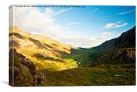 Summer valley, Canvas Print