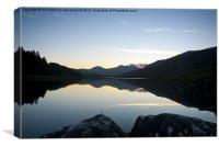 Llynnau Mymbyr sunset, Canvas Print