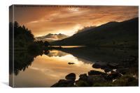 Sunset at Llynnau Mymbyr, Canvas Print