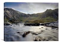 Llyn Idwal stream 1, Canvas Print
