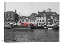 Weymouth Fishing Boat, Canvas Print