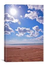 Sun , Sea , Sand at Bridlington, Canvas Print