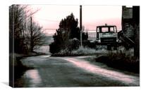 Abandoned farm truck, Canvas Print