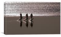 Severn Bore Trio, Canvas Print