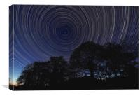 Star Trail UK, Canvas Print