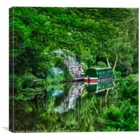 Summer Canal, Canvas Print