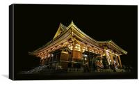 Japanese Temple in Asakusa, Tokyo, Canvas Print